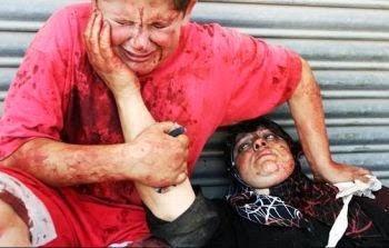 عکس/وداع دلخراش کودک فلسطینی با مادرش